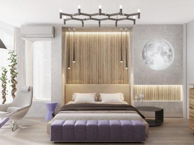 Спальня с луной