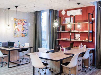 офис по типу  open space